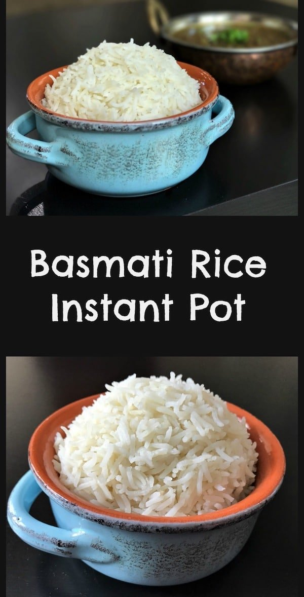 Perfectly cooked and aromatic Indian Basmati rice made in an instant pot. Just set in the pressure cooker for 4 minutes and perfect rice is ready to enjoy   #basmati #whiterice #rice #instantpot #pressurecooker   pipingpotcurry.com