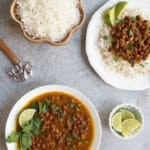 Punjabi Kala Chana or Black Chickpeas Curry made in Instant Pot. A homestyle mild spiced curry, best enjoyed with rice