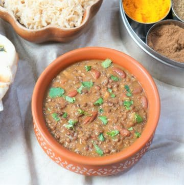 Instant Pot Dal Makhani with Rice (Madras Lentils)