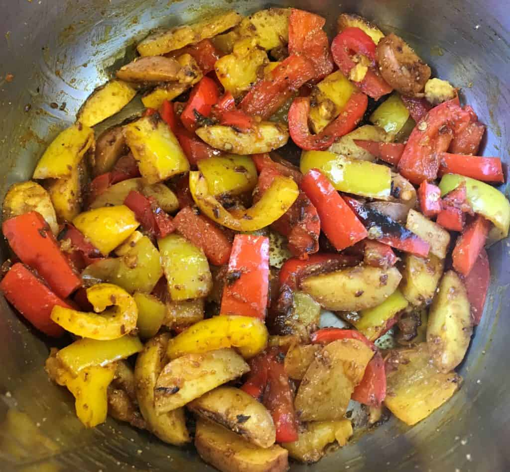 Bell Pepper and Potato Stir Fry Pressure Cooker