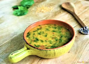 Lentils with spinach Instant Pot. Pressure Cooker Dal Palak