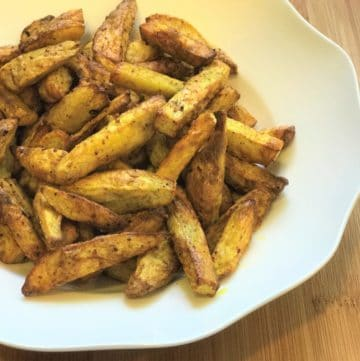 Air Fryer Taro Root Fries / Crispy Arbi