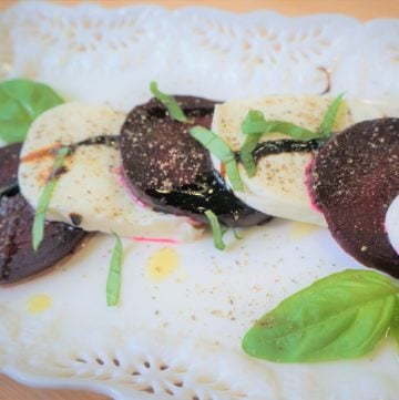 Beet & Mozzarella Salad (with Pressure Cooker Beets)