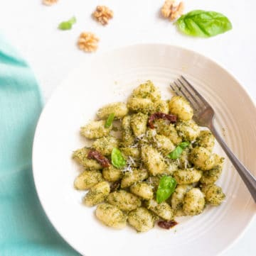 Gnocchi with Basil Pesto
