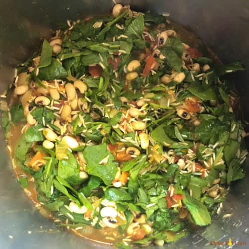 Black eyed peas and Spinach Pulao Pressure Cooker - Ready to Cook