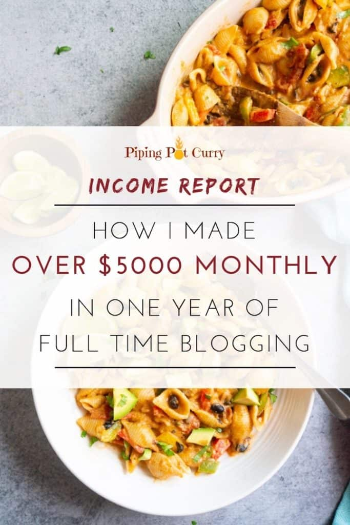 food blog income report 2018 how i made over 5000 monthly in one