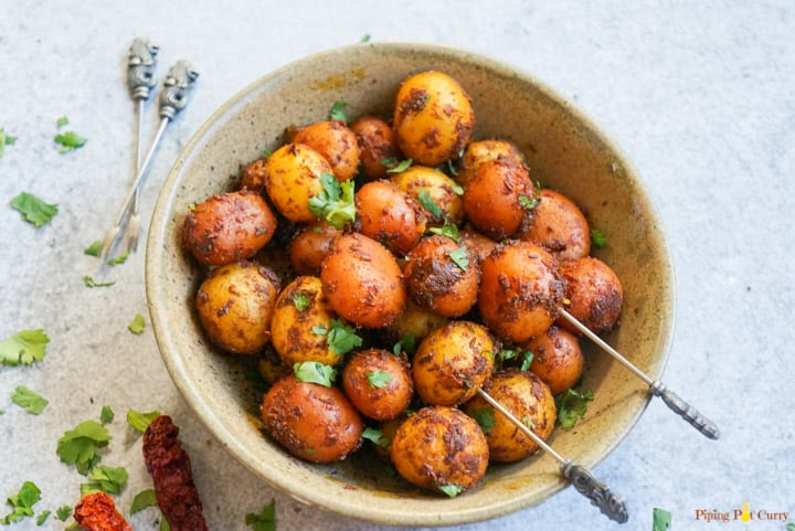 Spicy Bombay Potatoes Instant Pot Pressure Cooker