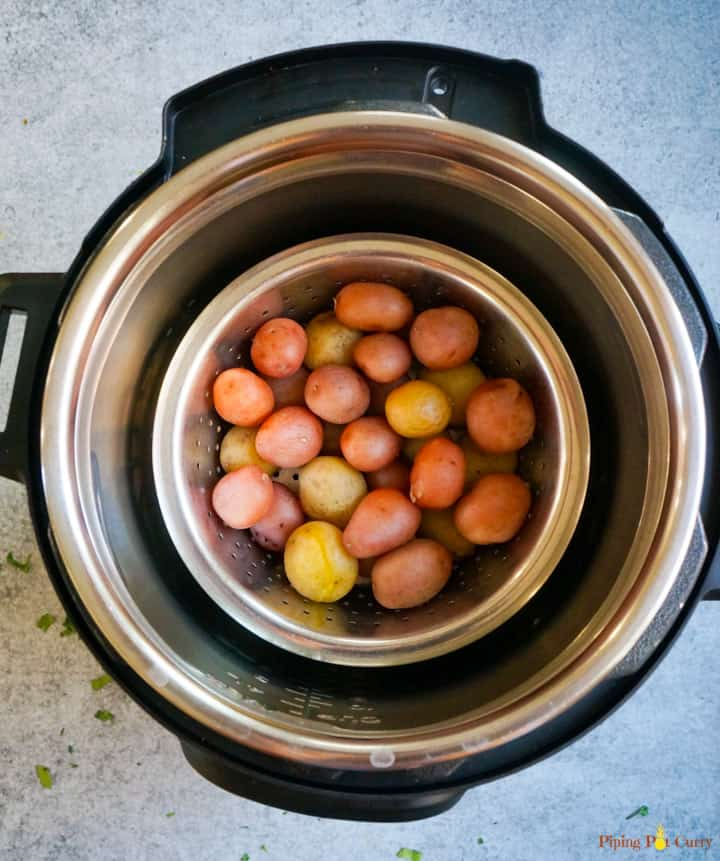 Baby Potatoes boiled in an Instant Pot