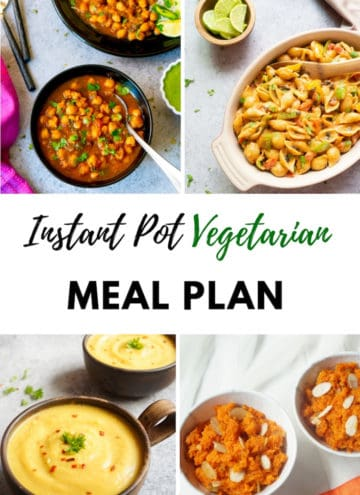 Vegetarian Instant Pot Meal Plan