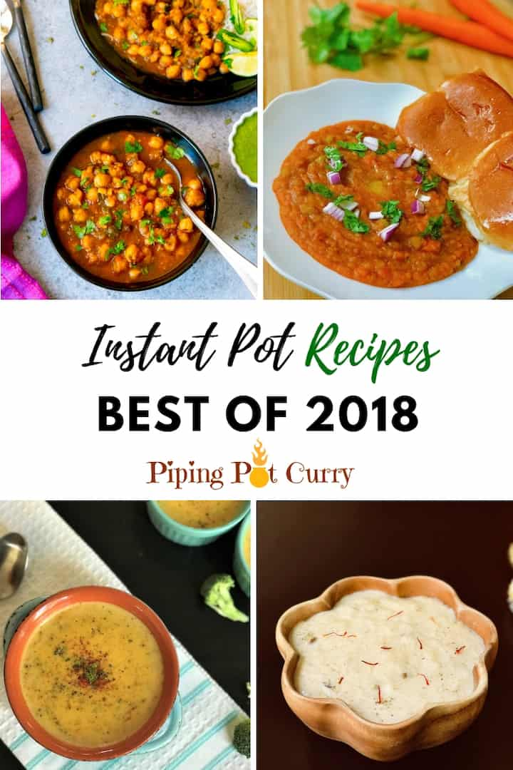 We have collected the top 10 Instant Pot recipes you have loved onPiping Pot Curry. A variety of curries, lentils, pasta, soup and desserts. #pipingpotcurry #instantpotrecipes #instantpot #pressurecooker #bestrecipes | pipingpotcurry.com